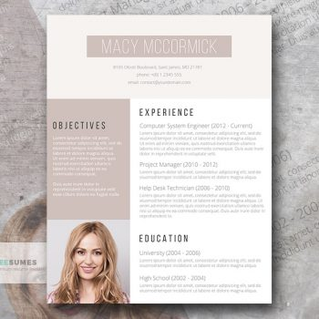 glamour resume template