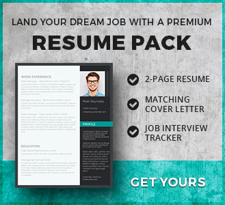 modern professional resume template pack
