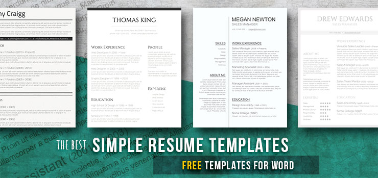 Simple and Basic Resume Templates (Free Downloads) - Freesumes