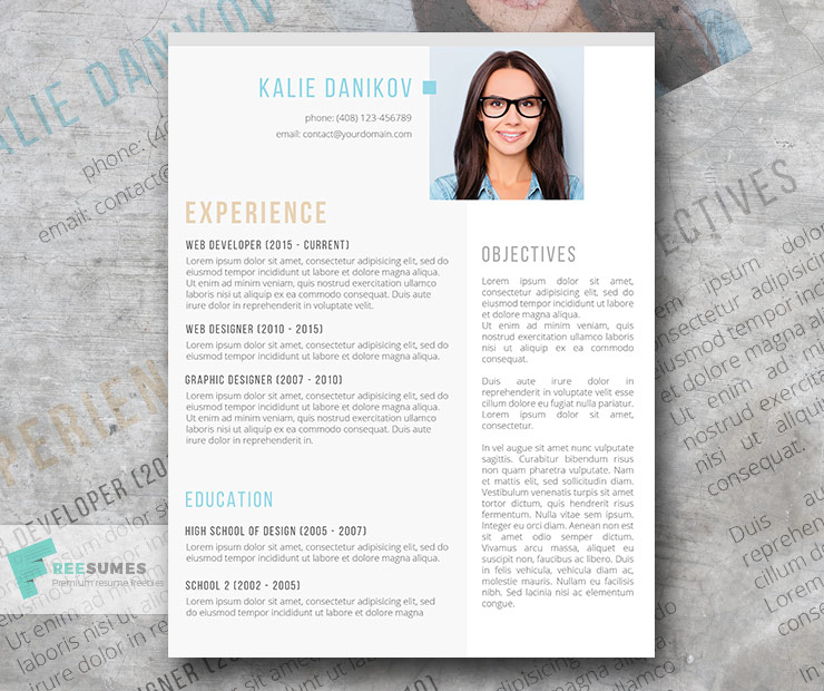 free modern clean resume template