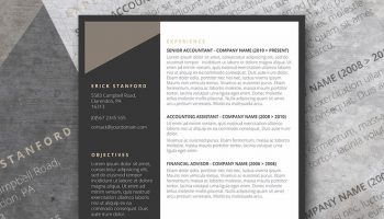 the executive grey resume