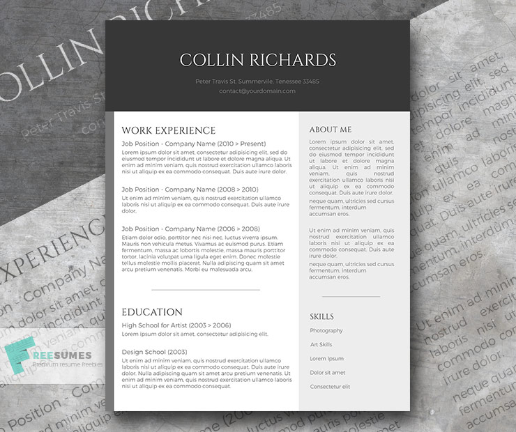 plain but trendy resume design