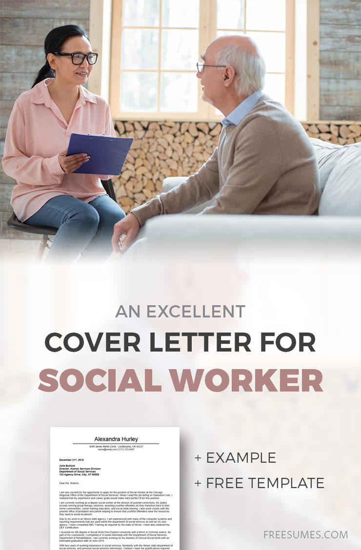 Excellent Cover Letter Example For A Social Worker Freesumes