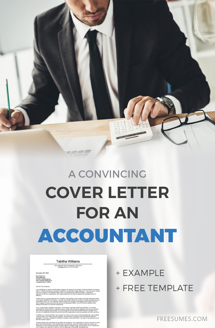 A Convincing Cover Letter Example For Accounting - Freesumes
