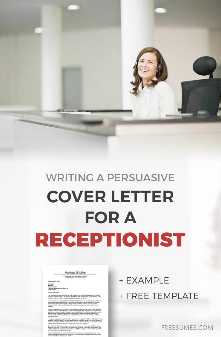 cover letter for a receptionist