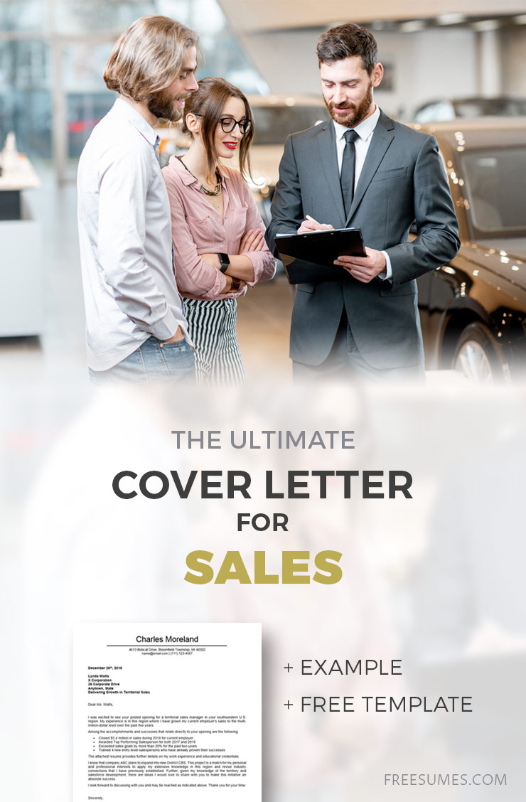 cover letter for sales