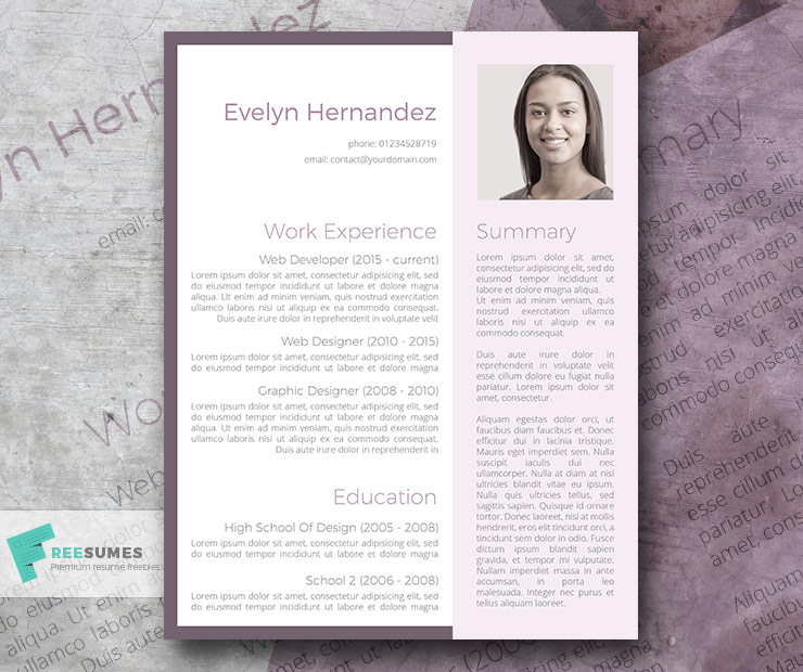 instant magnifier resume template freebie