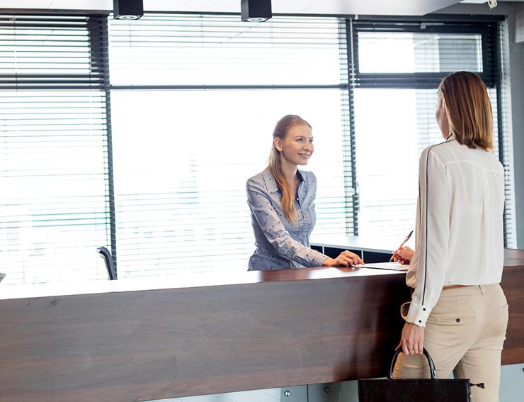 office receptionist job