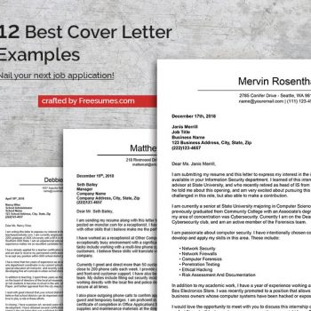 12 best cover letter examples