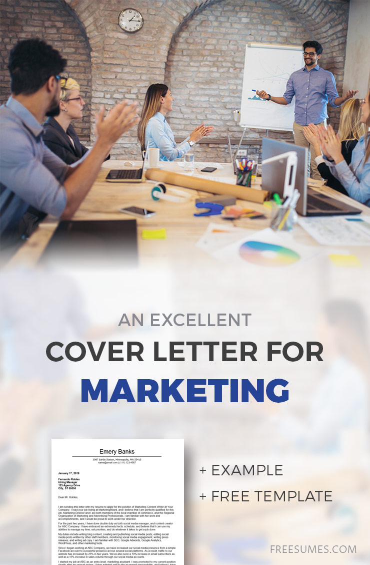 cover letter example for marketing