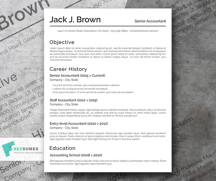 Free Basic Resume Template The Conservative Freesumes