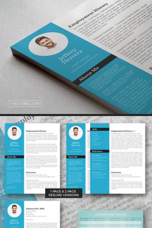 cyan splash resume pack