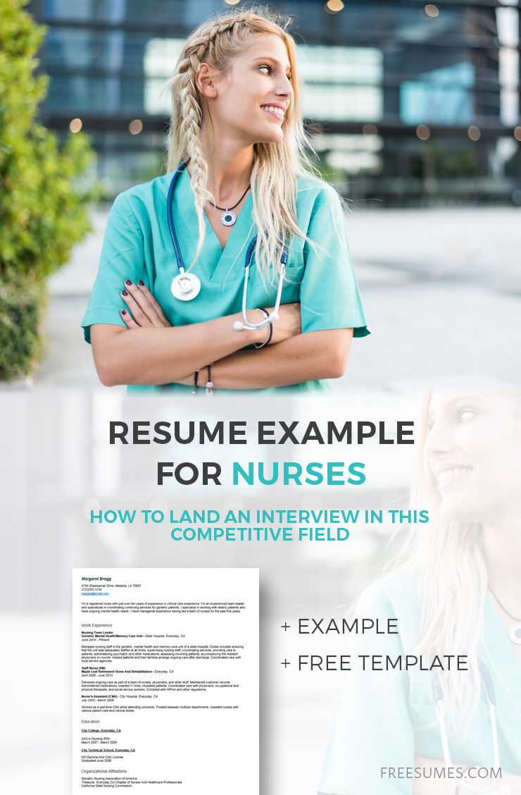 Resume Example For Nurses How To Land An Interview Freesumes