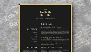 contrast success resume