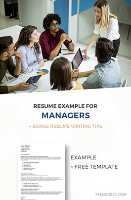 example manager resume