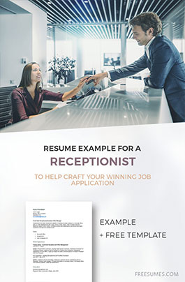 example receptionist resume