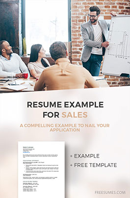 example sales resume