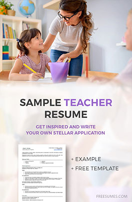 example teachers resume