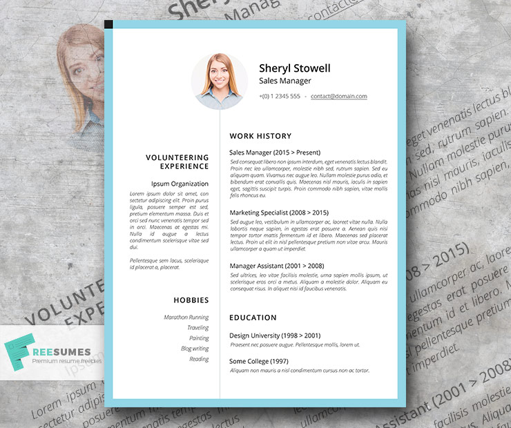 Sweet & Simple - A Light Professional Resume Template ...