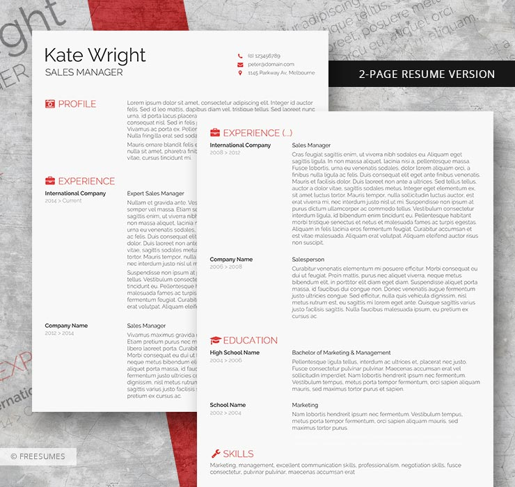 minimalist 2-page resume
