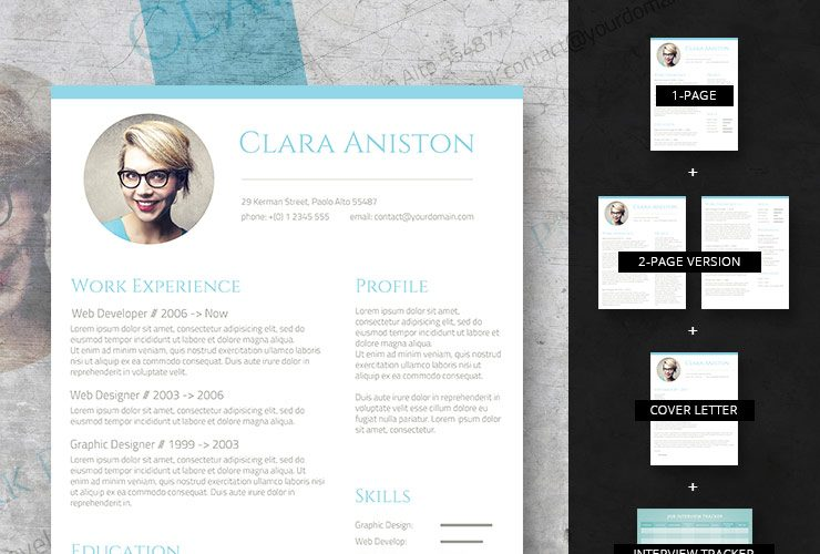 simple snapshot premium-resume set