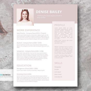 a la mode resume design