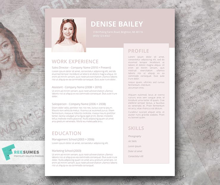 a la mode resume design