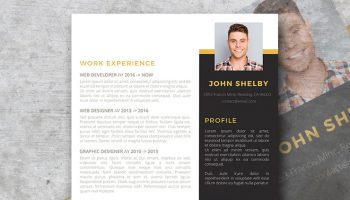 bold and brash resume template