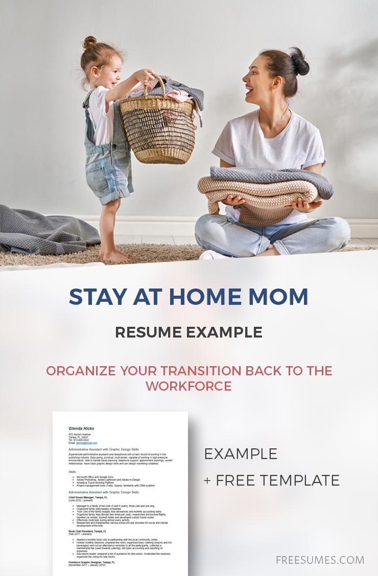 sample stay at home mom resume