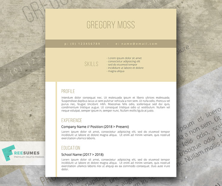 ready for the world resume template