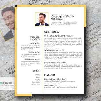 the freelancer resume template