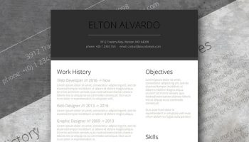 the modern minimalist resume template