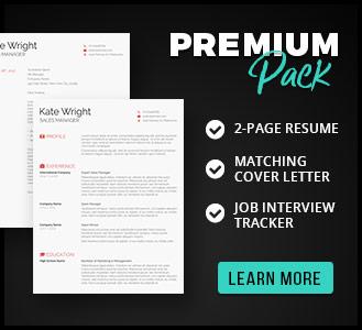 minimalist resume template pack