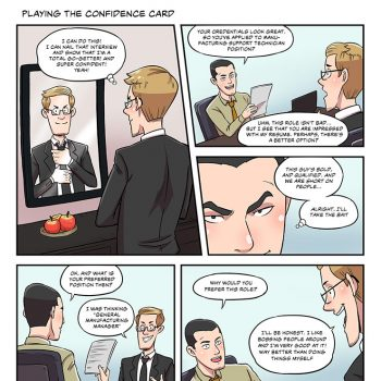 Strip #06 playing the confidence card