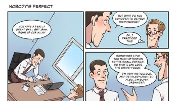 Strip #09 nobody's perfect