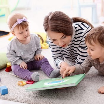 nanny with kids
