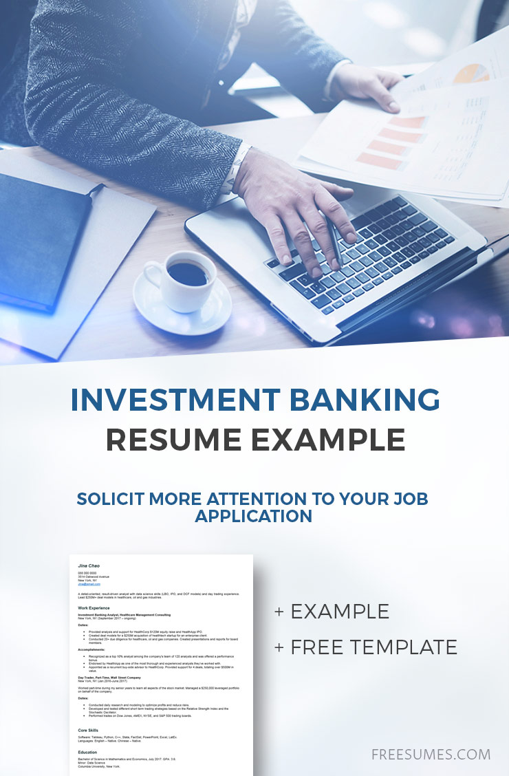 sample investment banking resume