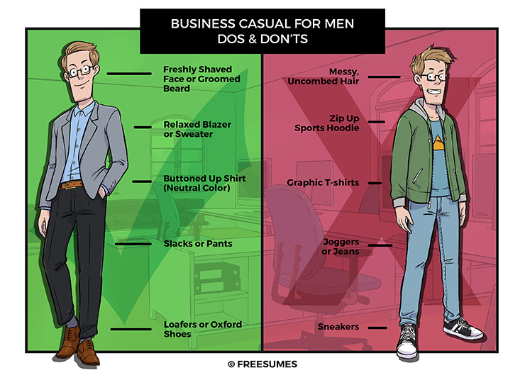 business casual dos and don'ts for men