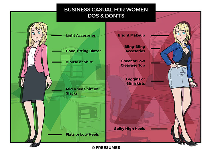 business casual dos and don'ts for women