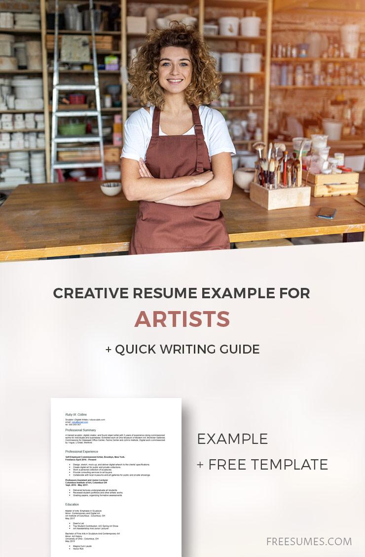 sample artistic resume