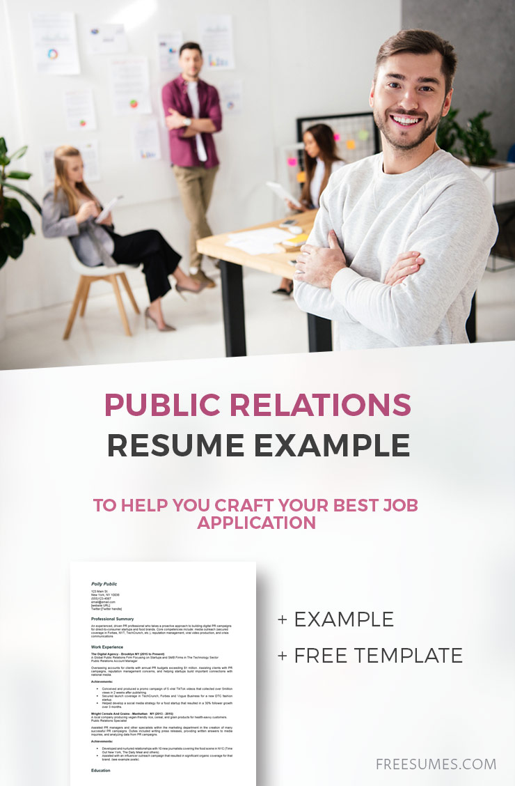 sample public relations resume