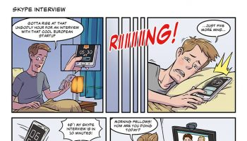 strip #26 Skype interview