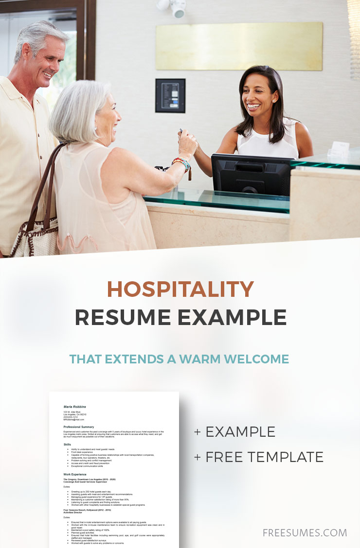 sample hospitality resume