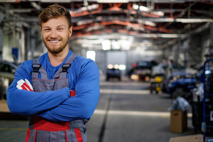 smiling mechanic