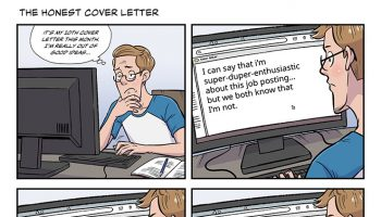 strip #35 the honest cover letter