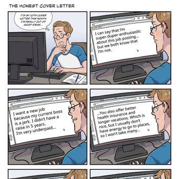 strip #35 the honest cover letter