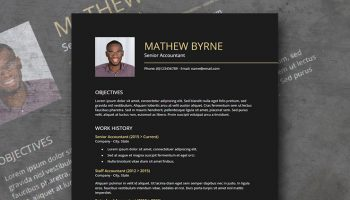 Baio resume template Google docs