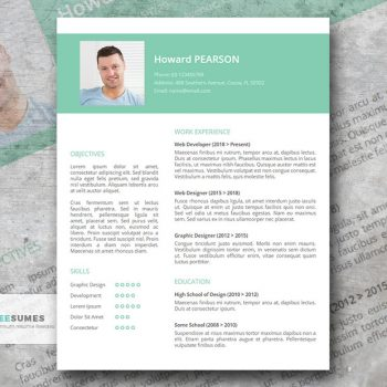 Grigie resume template for Google docs