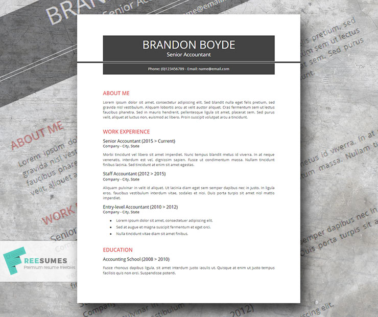 Strail A Professional Resume Template For Corporate Jobs Freesumes
