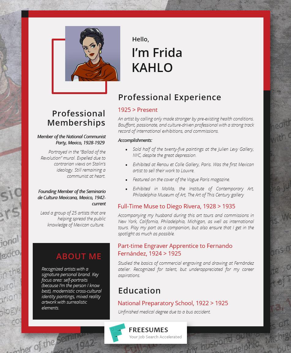 Frida Kahlo's resume